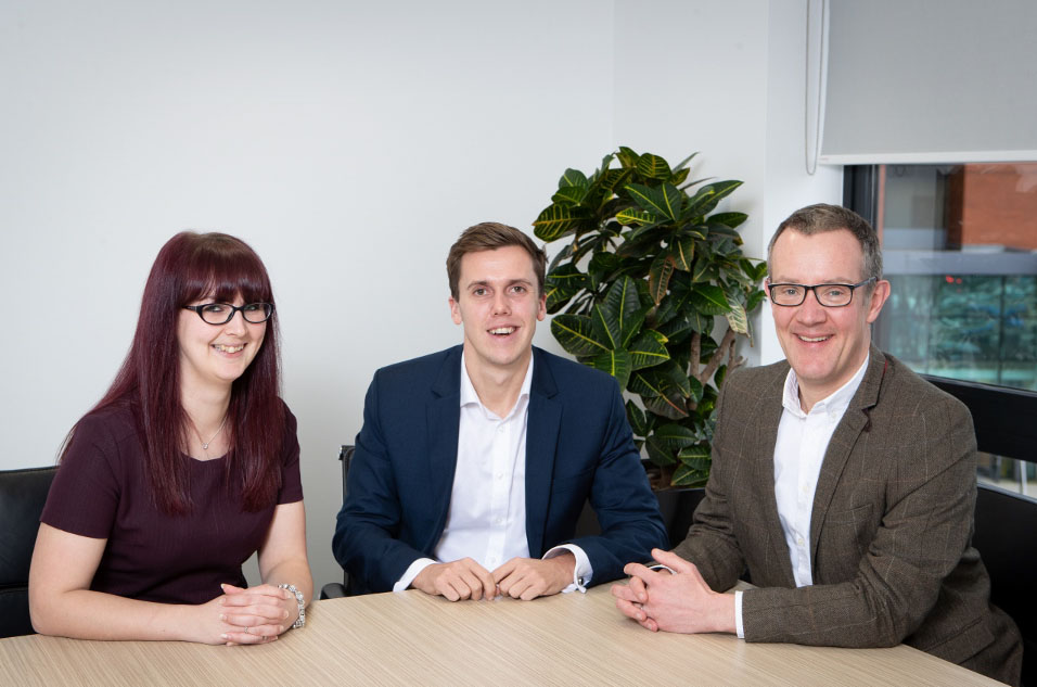 new tax managers, Fiona Wheeler & James Hamilton with Tim Potter